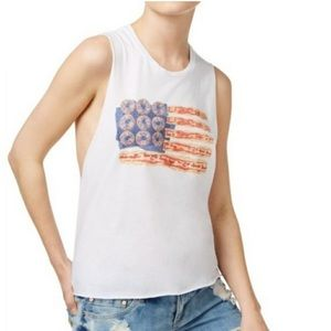 Kid Dangerous Donut Bacon Flag Tank NEW